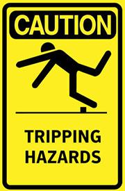 tripping hazards