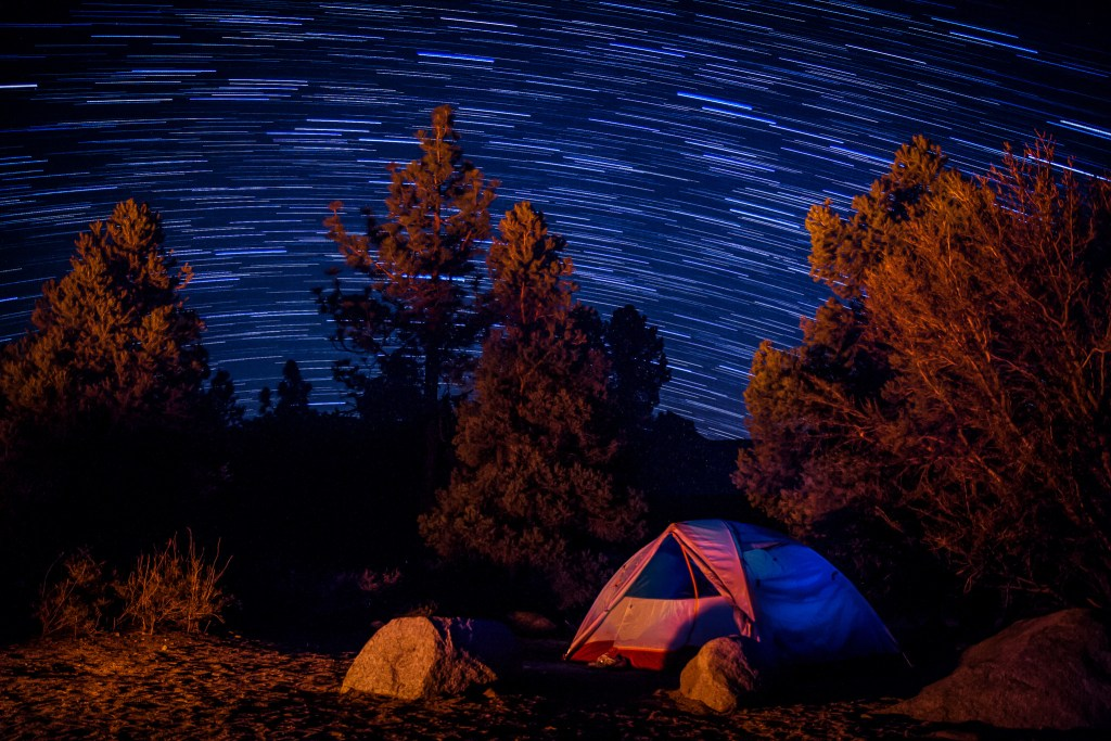 Tent and star trails by Scott Keelin.