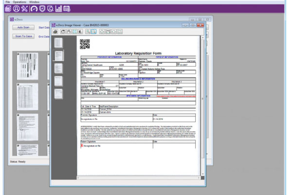 Pathology Software WindoPath eDocs screenshot