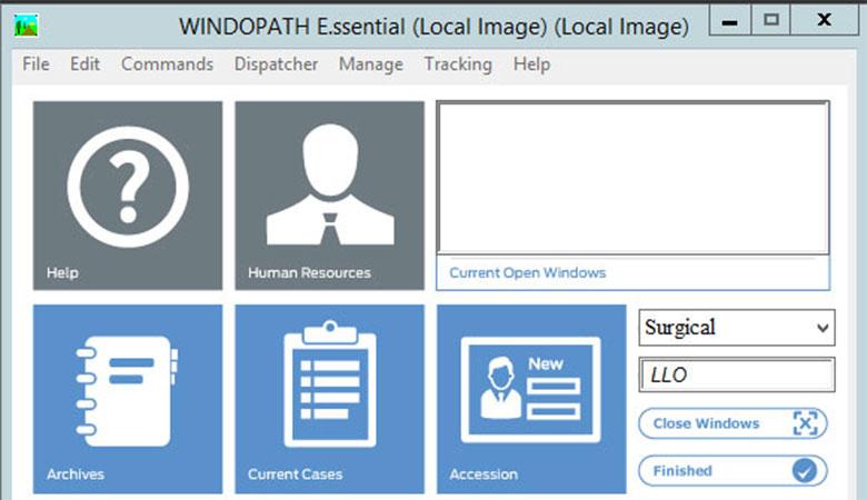Pathology Software Windopath Dispatcher screenshot