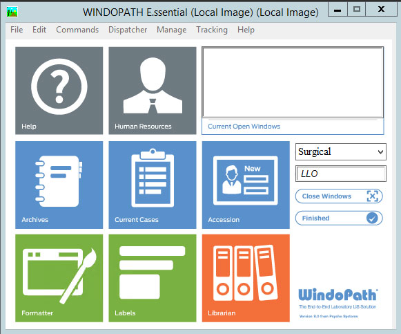 Windopath Dispatcher Screenshot Pathology Software