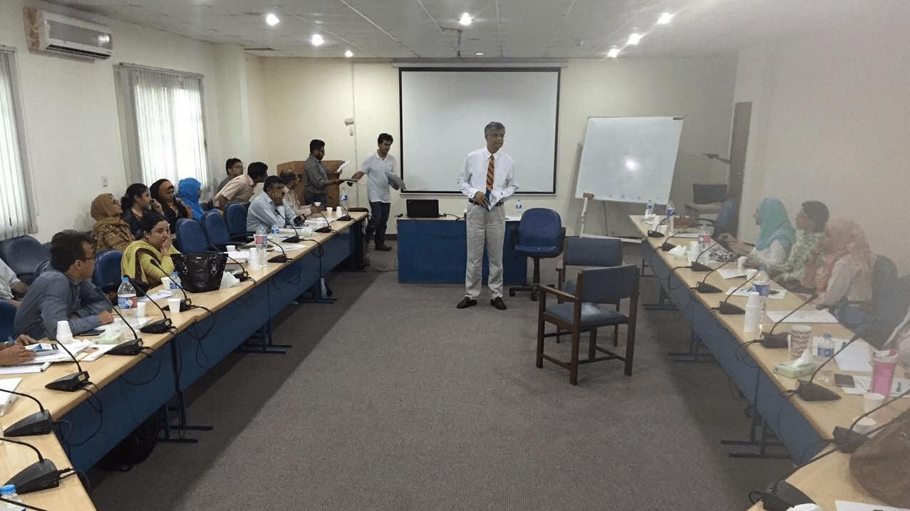Prof. Farid Minhas Conducting Psychiatry Training Activity