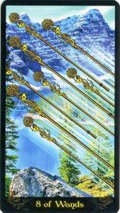 Eight of Wands Ttarot Card