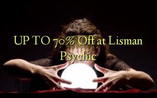 UP TO 70% Off at Lisman Psychic