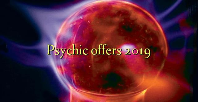 Psykiske tilbyder 2019
