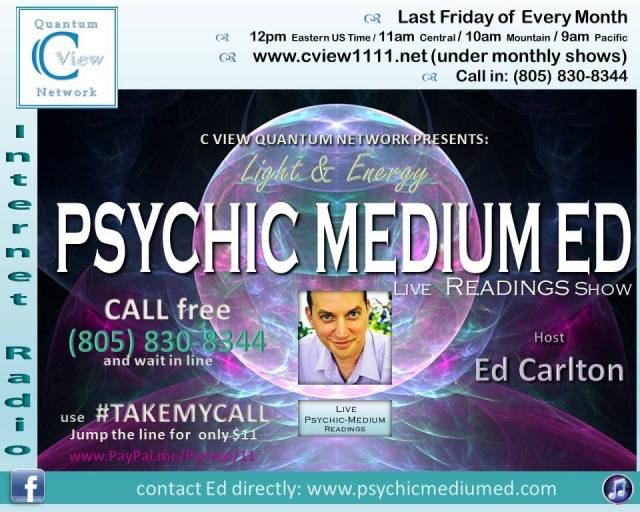 C View 2019 Light and Energy: Psychic Medium Ed (live readings)