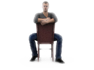 meaning of gestures chair straddle