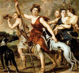 Возвращение Дианы с охоты, Рубенс
