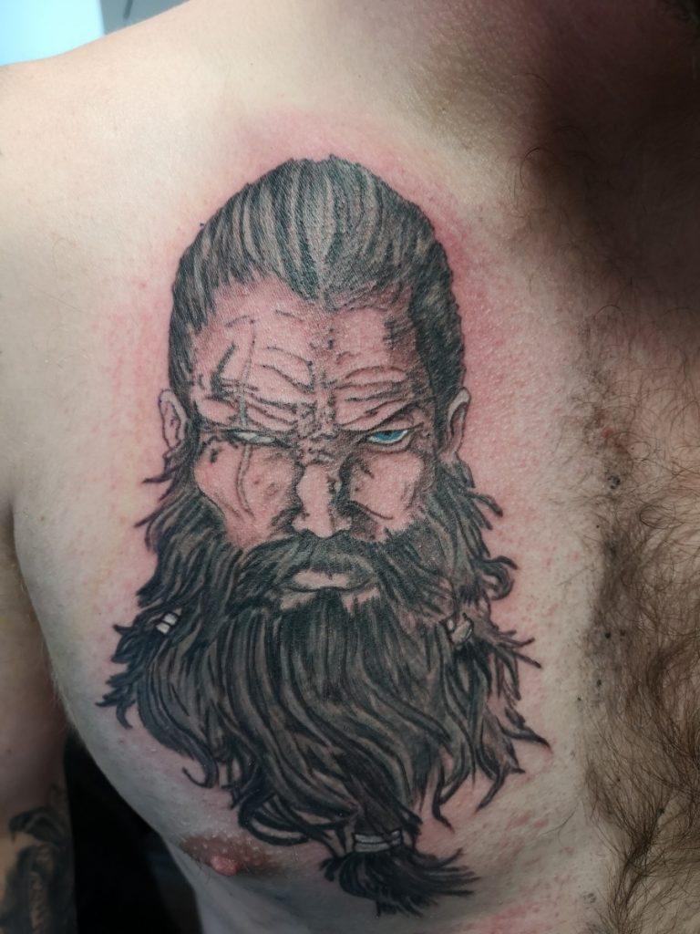 Odin Black And Grey Chest Tattoo Psychodelink Tattoo