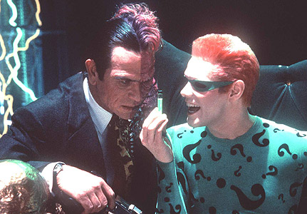 batman forever twoface the riddler