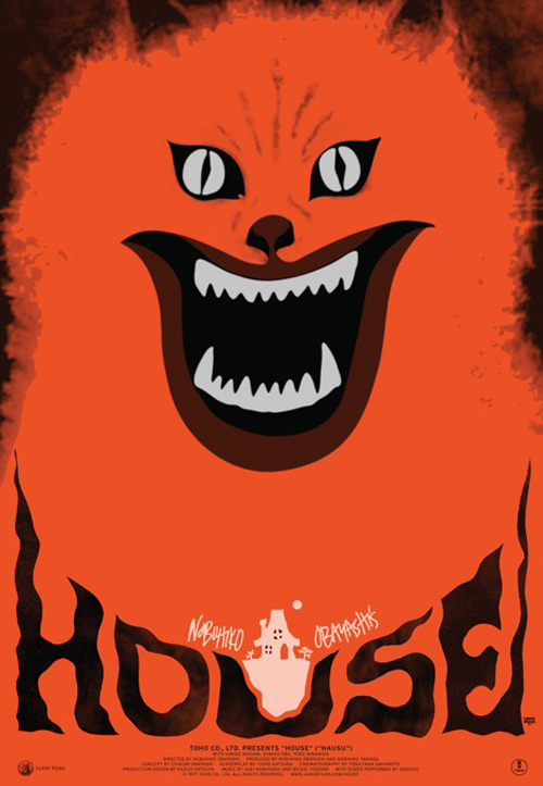 Re-release poster for HOUSE (HAUSU), designed by Sam Smith.