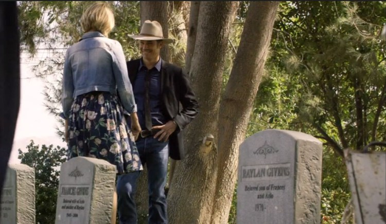 Justified--Ava and Raylan at Cemetery