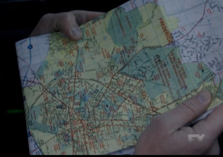Map of Frederick
