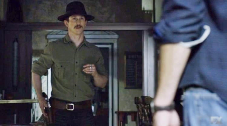 Boon and Raylan Stand Off