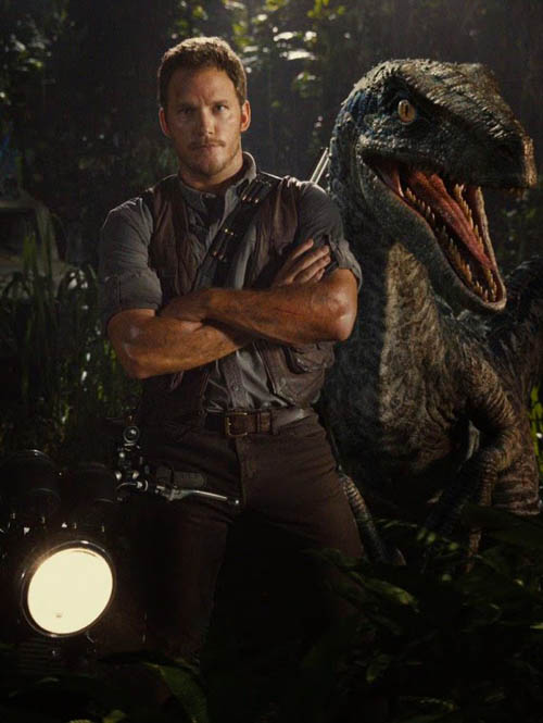 Chris Pratt Raptor Jurassic World 2015