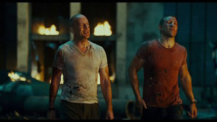 A Good Day to Die Hard Bruce Willis Jai Courtney