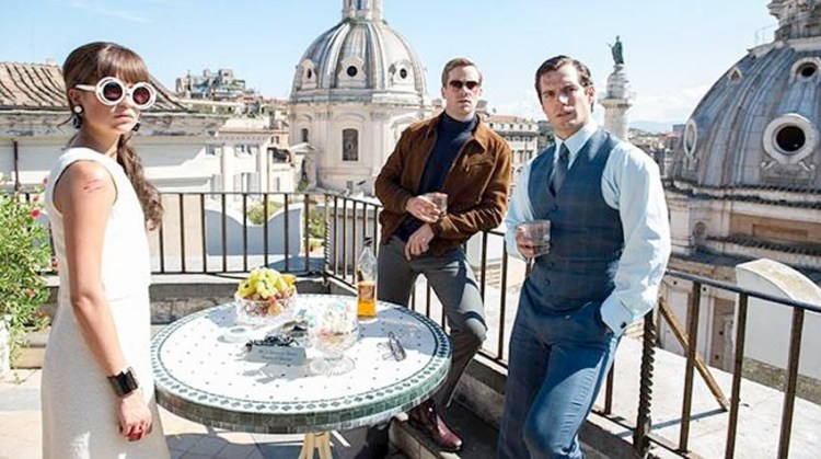 Henry Cavill Armie Hammer Alicia Vikander The Man From UNCLE 2015 movie