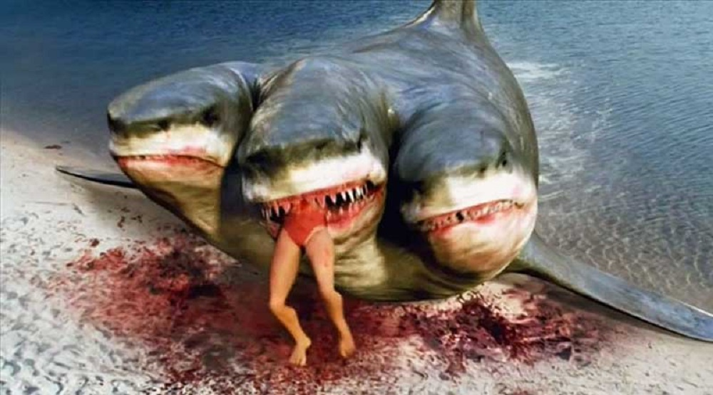 Shark attack woman nude