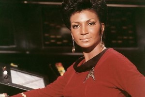 Nichols as Uhura in Star Trek: The Original Series