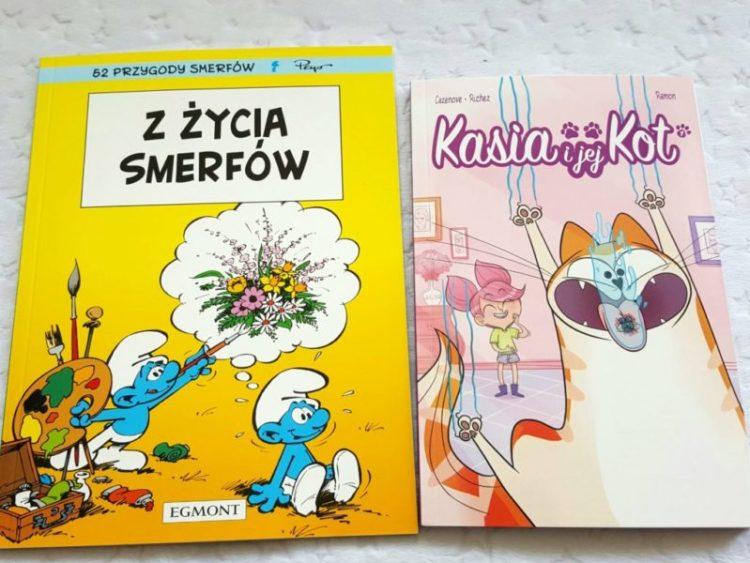 20190526_195400165463529-1024x768 Komiksy są super: Kasia i jej kot (Tom 1) oraz 52 przygody Smerfów (Tom 8): Z życia smerfów. EGMONT
