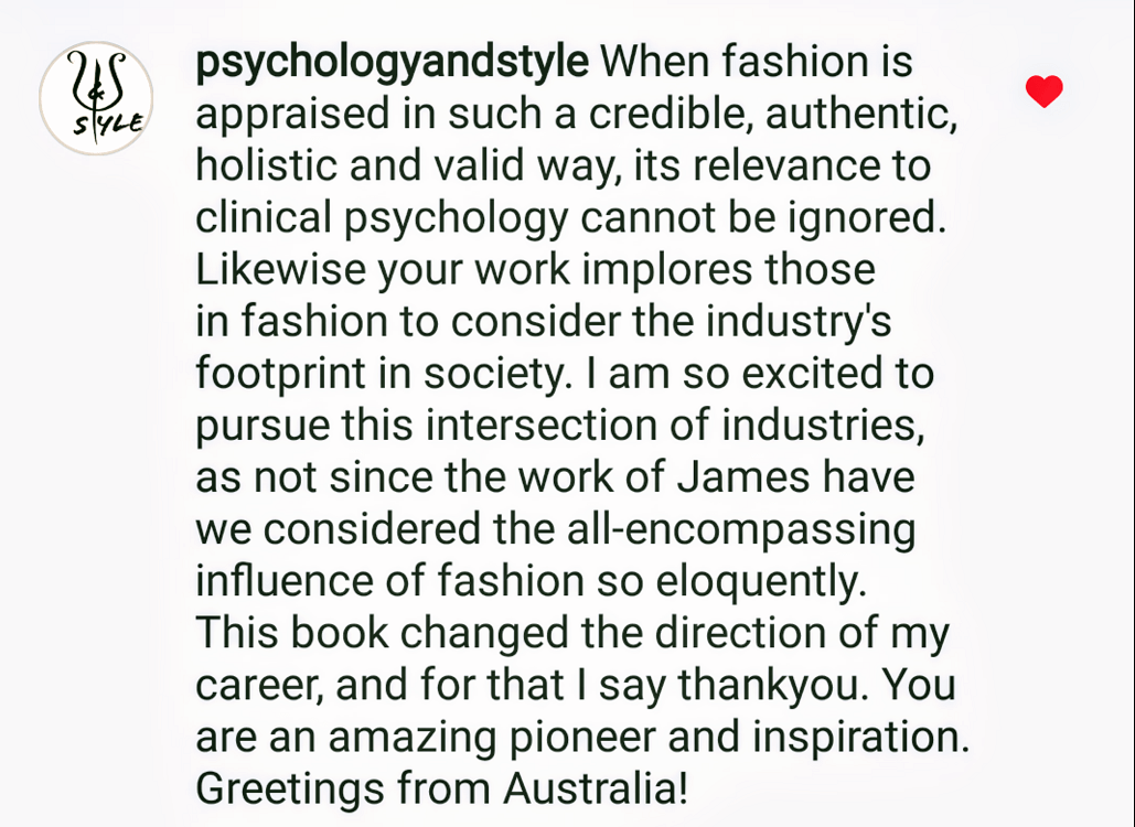 Comment on The Psychology of Fashion