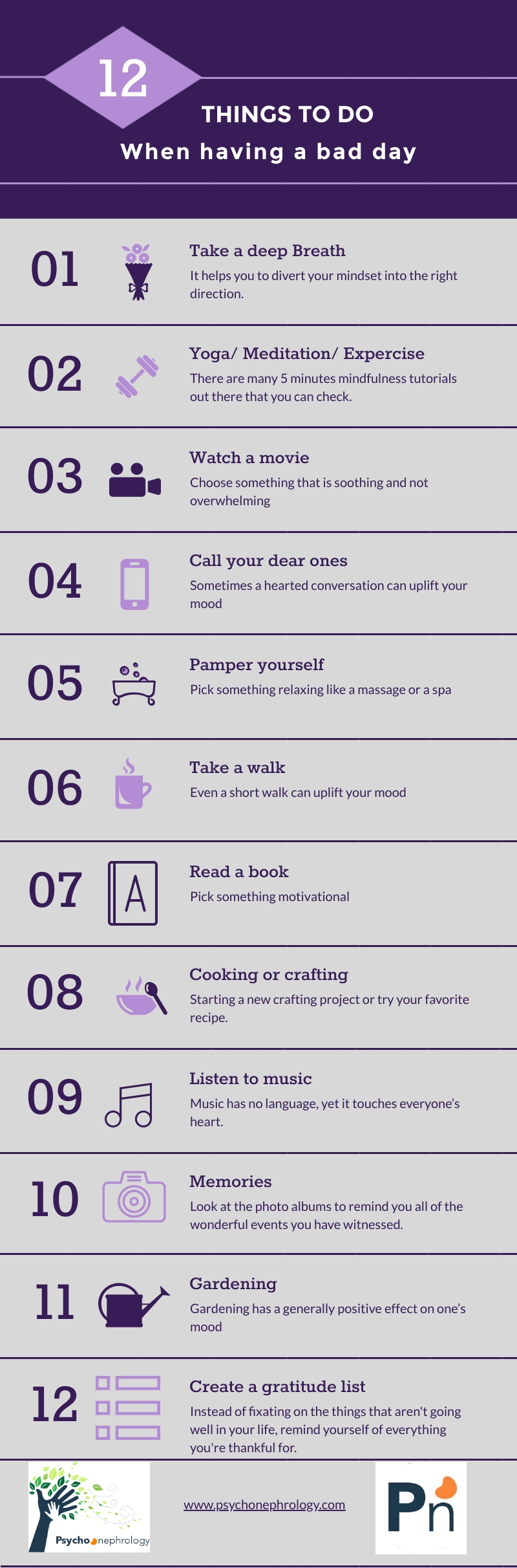 12 things to do when having a bad day