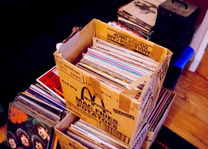 Sell my record collection - box of records We will pay cash for old vinyl singles and albums LPs