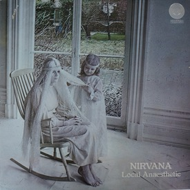 """NIRVANA LOCAL ANAESTHETIC Swirl orig with inner, cover m- except for small 1"""" scratch top left, not very visible, vinyl nice £250 M--/M- VERTIGO 6360 031 LP"""