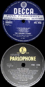 decca and parlophone labels