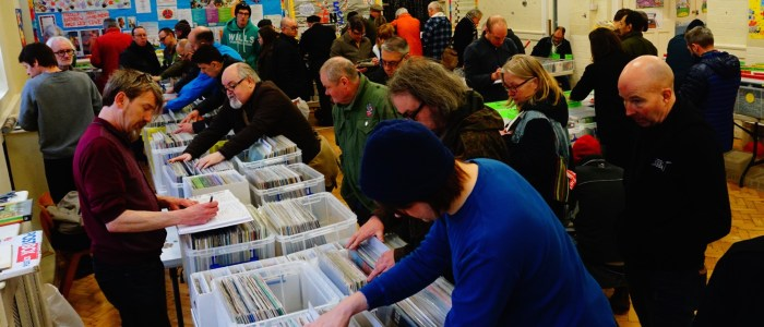 Buying and selling records at the Moseley Record Fair