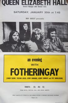 Fotheringay Poster QE Hall