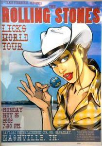 Rolling Stones Licks tour poster