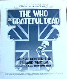 Oakland gig poster