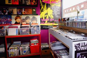 Interior of Psychotron shop Records and CDs
