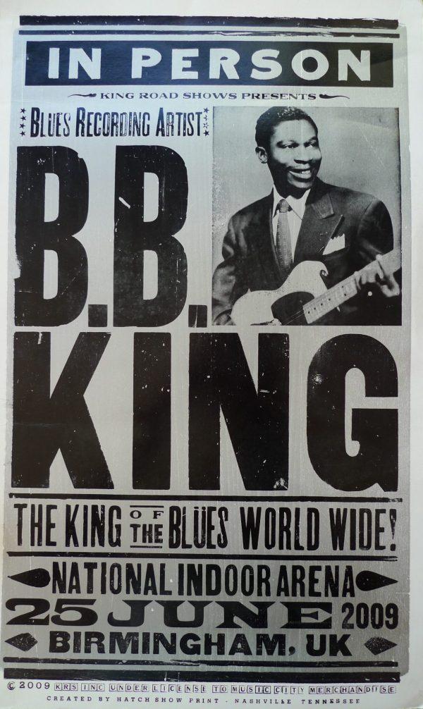 BB King in Birmingham in 2009