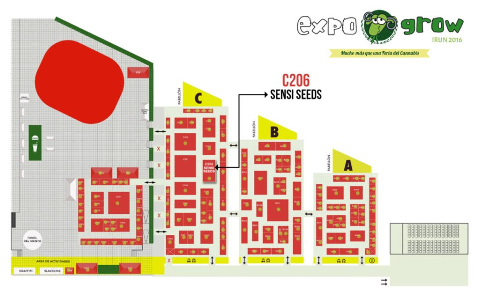 Where to find Sensi Seeds at ExpoGrow 2016 – stand C206