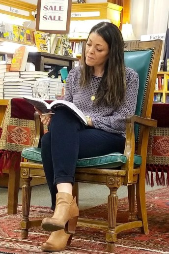 Stacy reading at the Boulder Book Store