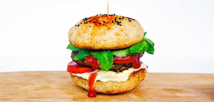hamburger vegetalien psyllium