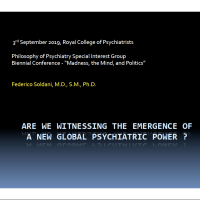 A new global psychiatric power?  Intro (2020)