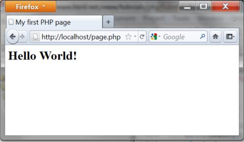 Imagem mostrando o resultado do código em um navegador