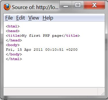 Imagem mostrando o código fonte do documento
