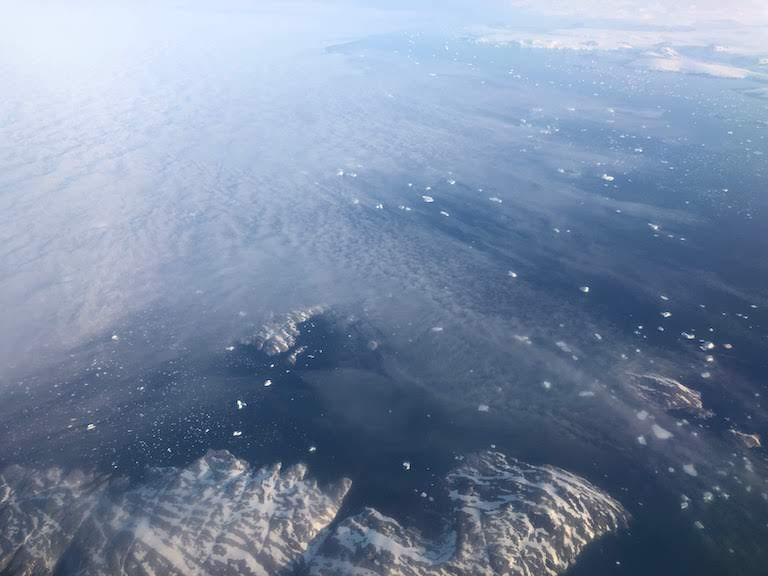 グリーンランド航空 景色