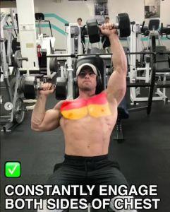 大胸筋上部の位置