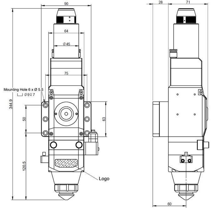 Baixo preço Laser corte cabeça 1500 watts fabricantes