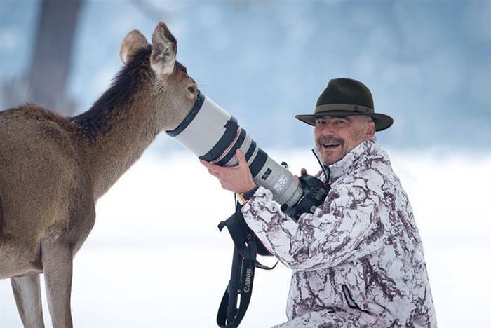 Animais e fotografos
