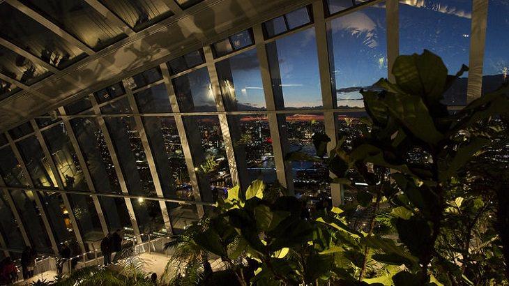 sky garden em londres tem vistas deslumbrantes