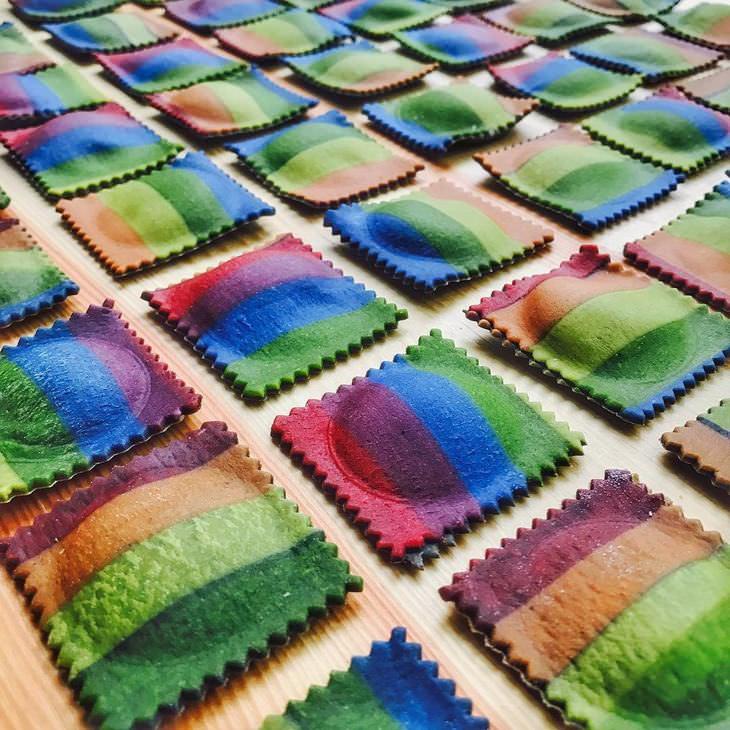 macarrão colorido