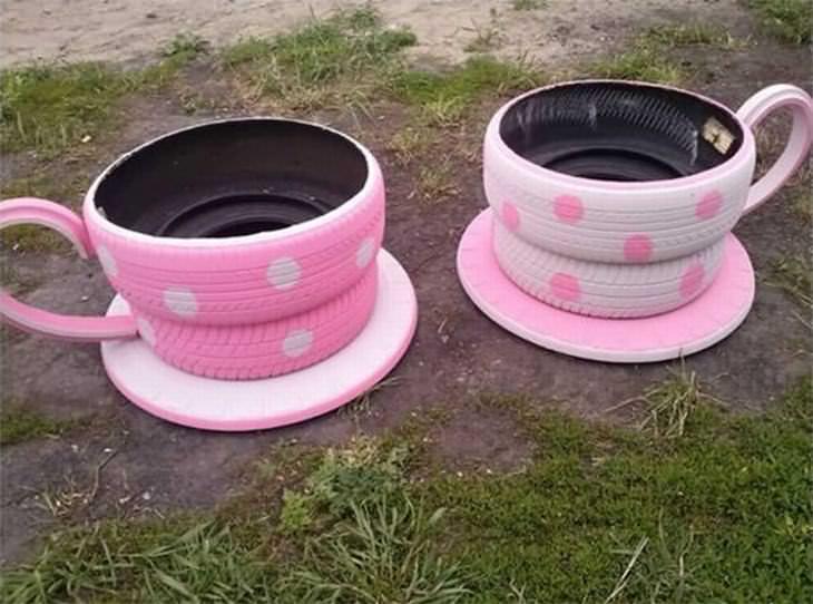 reaproveitando pneus