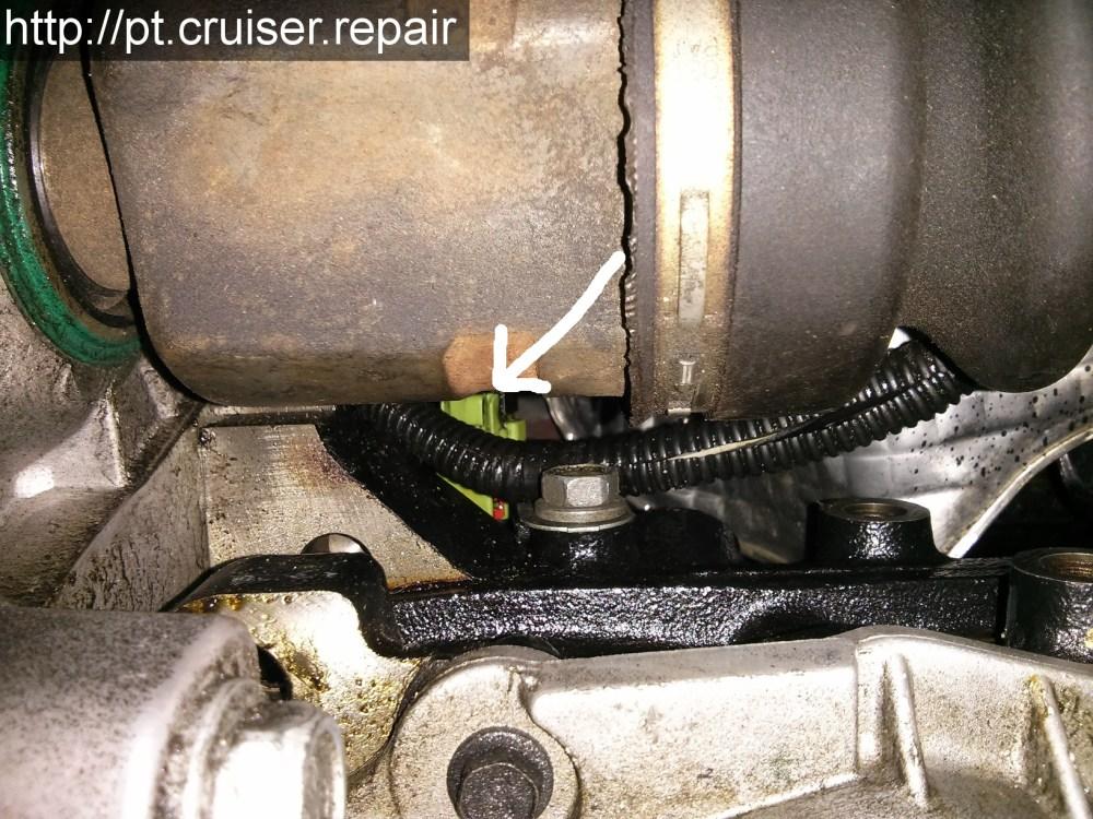 medium resolution of position du capteur de pression d huile sur un pt cruiser 2 4l essence