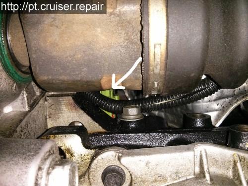 small resolution of position du capteur de pression d huile sur un pt cruiser 2 4l essence